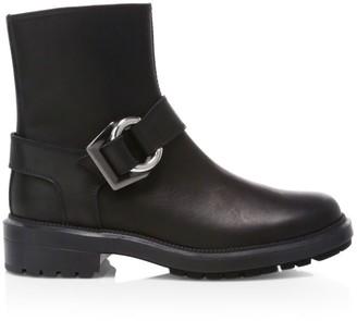 Aquatalia Lexie Leather Moto Boots