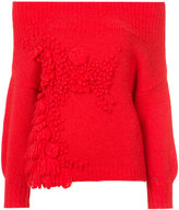 DELPOZO square shoulder knitted top - women - Alpaca/Merino/Polyimide - S