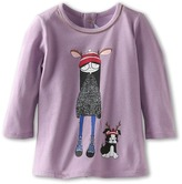 Little Marc Jacobs L/S Tee With Miss Marc Tee Girl's T Shirt