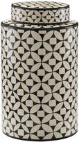 John-Richard Collection John Richard Geometric Blk & Wht Ceramic Jar