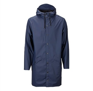 Rains Unisex Long Jacket Blue XXS/XS