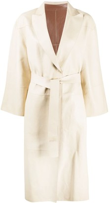 Brunello Cucinelli Reversible Leather Trench Coat