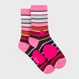 Paul Smith Women's Pink Spotted Stripe Socks