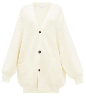 Raey Oversized Chunky-knit Wool Cardigan - Womens - Ivory