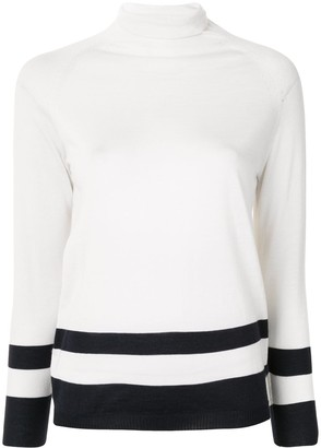 Kiton Turtleneck Striped Trim Jumper