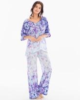 Soma Intimates Crepe De Chine Short Sleeve Chiffon Pajama Set