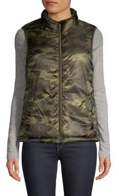 Core Life Faux-Fur Lined Camo Puffer Vest