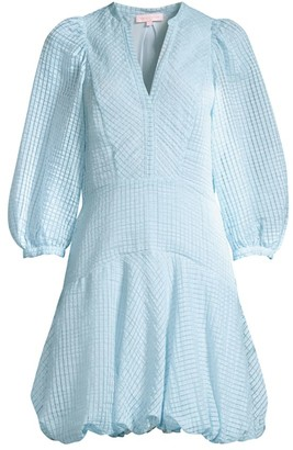 Rebecca Taylor Organdy Stripe Puff Dress