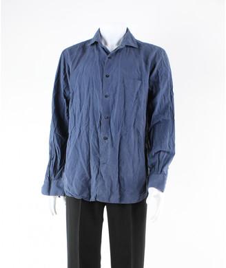 Loro Piana Blue Silk Polo shirts