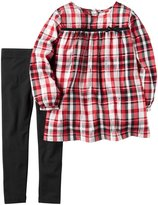 Carter's 2 Piece Plaid Top Set - Plaid - 18 Months