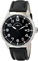 Zeno Men's 6569-515Q-A1 Navigator Leather Strap Watch