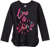 adidas Girls 4-6x Shirttail Graphic Tee