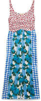 Marni Printed Satin Dress - Blue