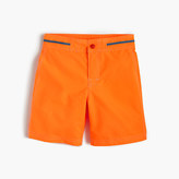 J.Crew Boys' snap-front board short in neon tangerine