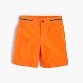J.Crew Boys' snap-front board short in neon tangerine