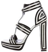 Viktor & Rolf Striped Platform Sandals