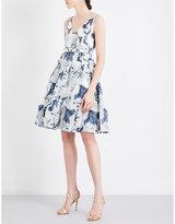 Erdem Floral chiffon and silk-blend dress