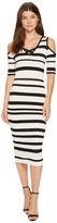 XOXO Pointelle Stitch Stripe Midi Dress