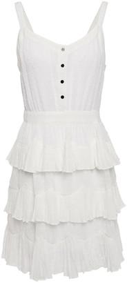 Maje Tiered Swiss Dot Mini Dress