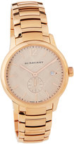 Burberry 40mm Classic Round Bracelet Watch w/ Check Dial, Rose Golden