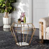Safavieh Abena Geometric End Table in Gold