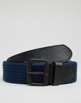 Asos Woven Belt With Black Coated Buckle