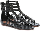 Alaia Laser-cut leather sandals