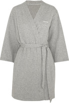 Calvin Klein Underwear Harmony Quilted Cotton-blend Robe - Gray