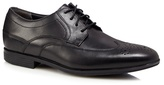 Rockport Black 'style Connected' Wing Tip Leather Shoes