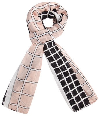 Dorothy Perkins Pink check oversized scarf
