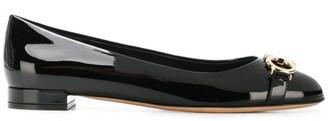 Salvatore Ferragamo Garda Patent Leather Ballet Flats