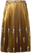 No.21 Swarovski crystal 'Runway' skirt - women - Polyester/Polyurethane/glass - 40