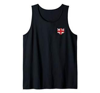 Union Jack Flag Pocket Great Britain British UK Novelty Gift Tank Top
