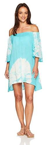 Green Dragon Women's Off Shoulder Tunic with Butterfly Sleeve
