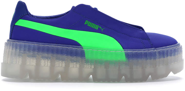 the latest baca1 a3043 Cleated Creeper Surf Rihanna Fenty Blue Green (W)