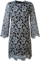 Blumarine floral lace shift dress - women - Polyamide/Polyester/Wool - 40