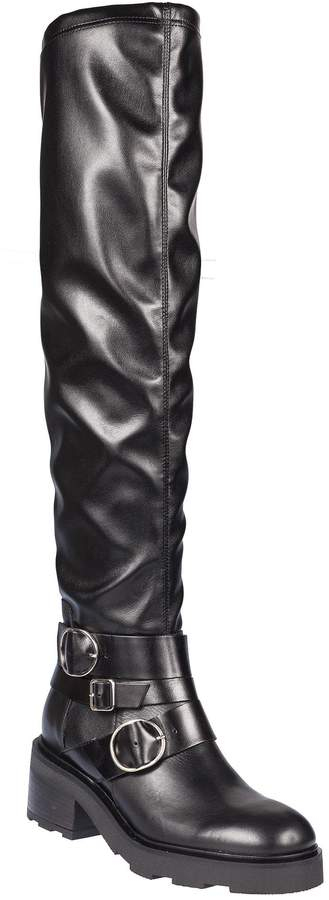 Janet & Janet Buckle Strap Over The Knee Boots