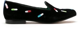 Blue Bird Shoes velvet New Pills loafers