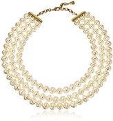"Yochi Baroque Pearl Layer Necklace, 16"" + 2"" Extender"