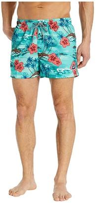 Speedo Seaside Floral Redondo Volley 14 (Oil Blue) Men's Swimwear