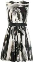 Alexander McQueen abstract print short dress