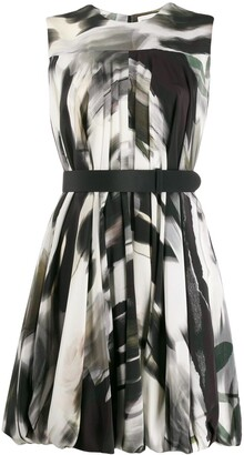 Alexander McQueen Abstract Print Short Dress