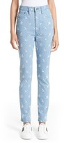 Marc Jacobs Women's Broderie Anglaise High Waist Skinny Jeans