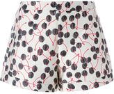 Giamba cherry brocade shorts