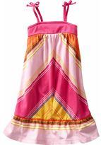 Chevron-striped knit dress