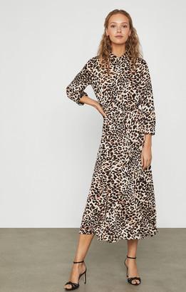 BCBGMAXAZRIA Leopard Blouson Dress