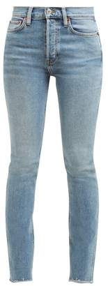 RE/DONE Double Needle Skinny-leg Jeans - Womens - Blue