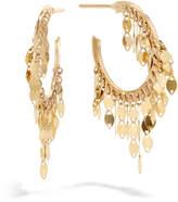 Lana 14k Gold Fringe Mini Hoop Earrings