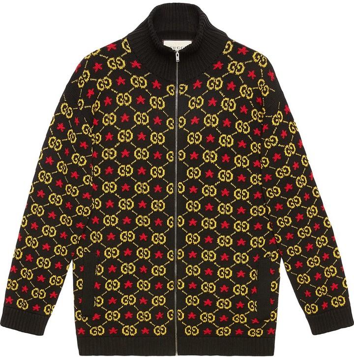 9a9768395d GG star cotton jacquard bomber jacket
