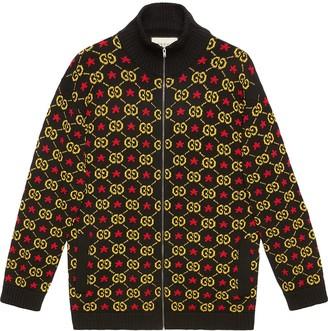 Gucci GG star cotton jacquard bomber jacket